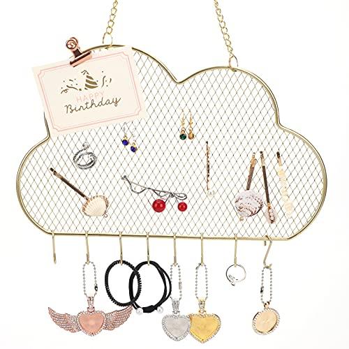 Organizador de joyas para colgar,colgador de exhibición de pendientes de metal montado...