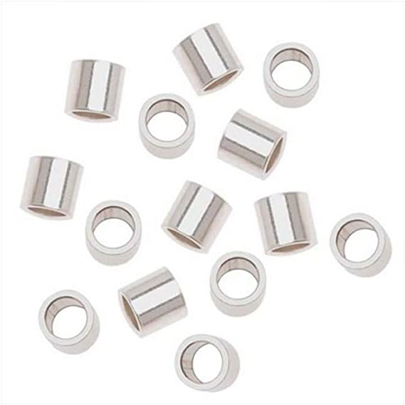 sterling silver crimps Twisted tornado style bead tube  3mm x 2mm jewelry making