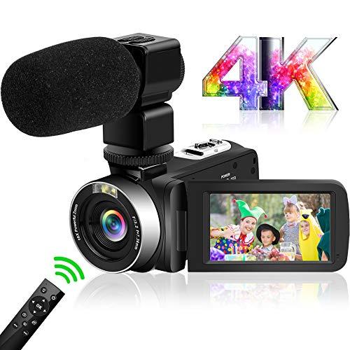 Camcorder Videokamera 4K Ultra HD 48 MP WIFI Camcorder Kamera IR Nachtsicht Camcorder Full HD Videokamera ausgestattet mit Mikrofon