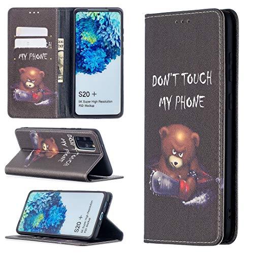 Carcasa de telefono Para Samsung Galaxy S20 Plus Premium PU Cartera de cuero, patrón impreso Cuero + TPU Funda de cáscara de fondo con ranura para tarjeta, 2 en 1 Funda de cubierta magnética con flip