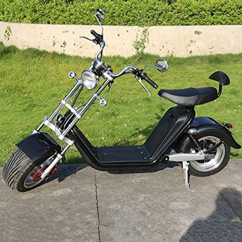 Scooter Électrique Adulte 2000W Citycoco 45MPH Démarrage À Un Bouton, avec Batterie Au Lithium Amovible 60V-20Ah, avec Grand Écran Et Clignotant
