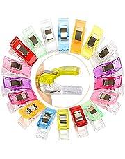 Clips Costura,100Pcs Craft Clips Craft Accesorios Clip de Tela con Clip de Plástico Multifuncional,Nueve Colores,Universal