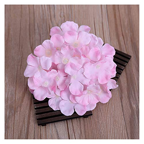 YSDSPTG Künstliche Blumen 1 stücke Hortensie Blütenköpfe Seide Künstliche Blumen Hochzeit Home Party Kulisse DIY Dekoration Panel Blume Wand Freizeit, Haus & Garten (Color : Light pink)