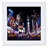 3dRose QS 4788_ 3New York City Times Quilt Platz,