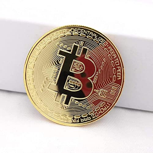 Mastery Moneda de Bitcoin Dorada de Colección; BTC Física de Coleccionador Criptomonedas Edición Limitada; Regalo Blockchain de Ficha Conmemorativa Original