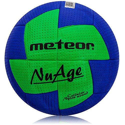 Meteor Pallone da Pallamano Handball - Ideale per Bambini Giovani e Adulti - 3 dimensiones - 0 Mini 1 Junior 2 Donna - Colori Diversi (2 Donna, Blu Giallo)