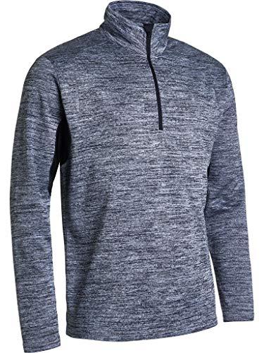 ABACUS Sportswear Drycool Wicking Breathable Warm Stretchable1/2 Zip Fleece Men's Fortrose Long Sleeve Active Sports Sweater… (Greymelange, Medium)
