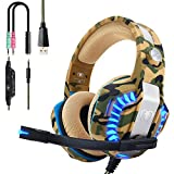 Beexcellent Casque PS4 Gaming, Casque Gamer Professionnel Audio Stéréo avec Micro à Réduction du Bruit 3.5mm Jack Over Ear...