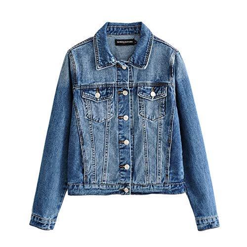 Black Short Denim Jacket Spring Blue Punk Jacket Coat Women Single Breasted Outfit