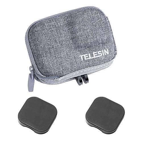 Kleine Tragbare Tasche für GoPro Hero10 Hero9 Hero8 , ULBTER Tragetasche für GoPro Hero 10 9 8 Kamera Go pro Hero9 Hero8 Schutztasche Zubehör und Objektivdeckel [1+2 Stück] --Graues