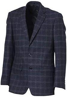 Heine Einreiher Jacket in Chequered Design Colour Navy