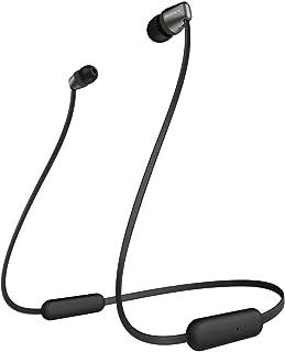 Sony WI-C310 Bluetooth draadloze in-ear hoofdtelefoon met microfoon/afstandsbediening, zwart (Refurbished)