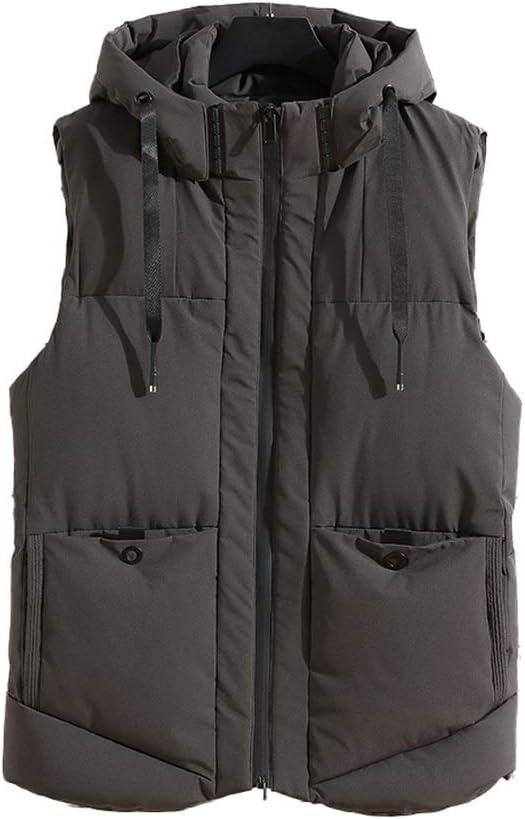 Comfortable Mens Lightweight Down Alternative Vest Jacket Down Vest Men Puffer Jacket Vests Sleeveless Jacket Hiking (Color : Green, Size : Large)