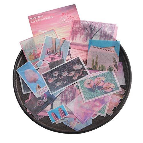 BLOUR 40 Stück/Packung Kaffee Travel Scenery Briefpapier Aufkleber Set Scrapbooking Dekorative Aufkleber Tagebuch Album Planer Journal DIY Label