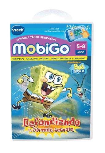 VTech - Bob Esponja, Defendiendo la fórmula Secreta, Juego Educativo en Soporte físico para MobiGo (80-251522)