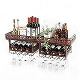 Estantería de vino Estante del vino del estante del vino de pared cáliz Bastidores independiente cocina del hogar revés copa de vino / marco de la botella de múltiples funciones de gran capacidad Bar