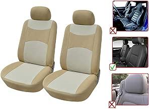 100/% PU Leather Non-Slip Rear Car Seat Cushion Covers for Lexus 255R Tan