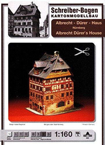 Aue Verlag 11x 9x 14cm Albrecht Dürer 's House Nürnberg Model Kit