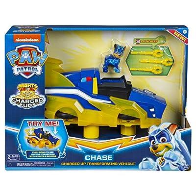 PAW PATROL 6055932 Mighty Pups Vehículo Chase Cargado por Spin Master