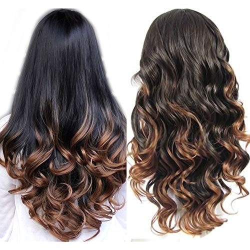 Long Two Tone Ombre Human Hair Lace Wigs 130% Density Brazilian Virgin Hair Blonde Glueless Lace Front Wig For Black Women 18Inch