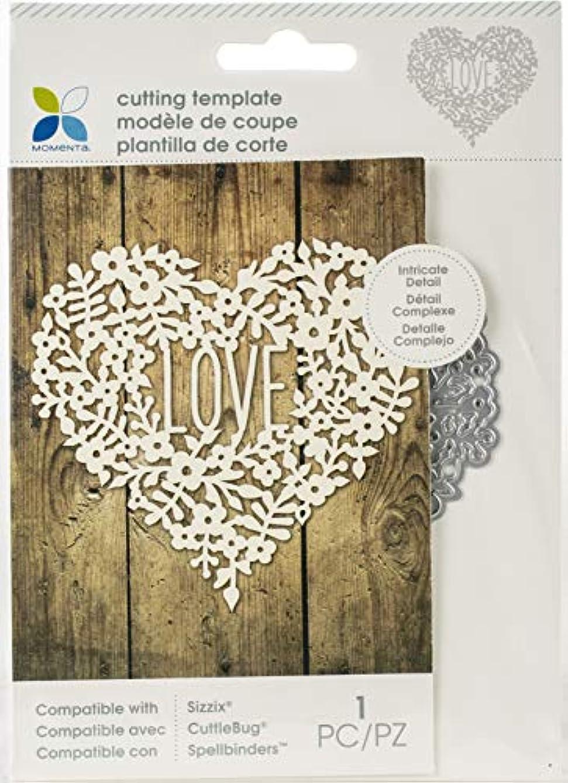 Momenta 32640 Cut & Emboss Die-Intricate Floral Heart Love