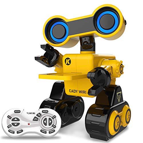 HBUDS Robot Giocattolo per Bambini Robot di Controllo Remoto Ricaricabile per Ragazzi Robot Intelligenti Che Possono Parlare (Solo in Inglese) Cammina, Balla, Registrazione Vocale, Tocca Interactive