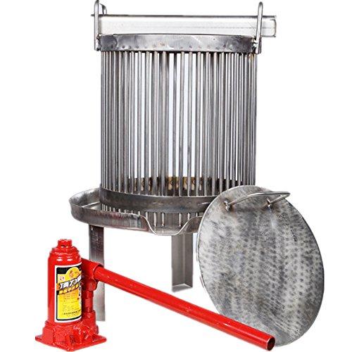 Presse-miel en acier inoxydable avec cric