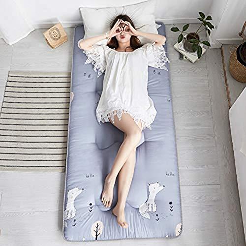CLX Japanse Tatami-matras, opvouwbaar katoen, ademend, anti-slip matten, traditionele futon slaapmat, tatami-mat, draagbaar, driedimensionale matrassen, matrassen