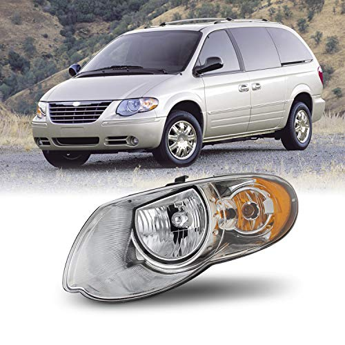 [AKKON] OE Style Chrome Headlights For 2005-2007 Chrysler Town & Country Driver Left Side Assembly