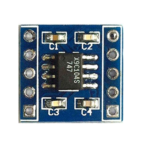rongweiwang x9c104 Digitale Potentiometer-Modul 100 für Digitale Potentiometer zur Einstellung der Brücke Gleichgewichts