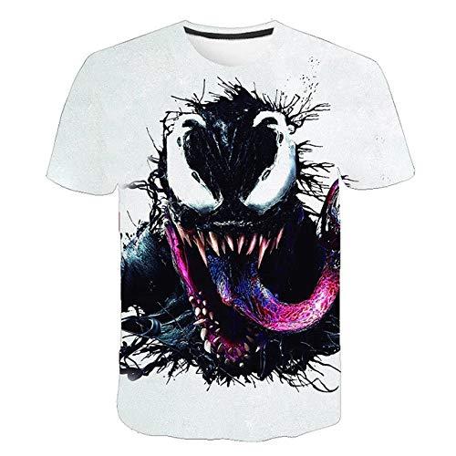 2020 Nouveau 3D T Shirt Hommes Mode d été à Manches Courtes Imprimer Ronde T-Shirt col séchage Rapide T-Shirt décontracté (Color : A334, Size : XXXXL)