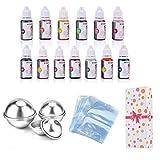Juego de moldes y colorantes para bombas de baño, de AUSHEN, set de regalo con 13 colores  Dyes & Molds Dyes & Molds