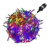 VOLTRONIC® LED Lichterkette für innen und außen, Größenwahl: 50 100 200 400 600 LEDs, warmweiß/kaltweiß/bunt/warmweiß+kaltweiß, GS...