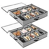 SOLEDI Cajas Almacenaje para Almacenamiento de Zapatos y Artículos Diversos Etc Puede Guardar Debajo la Cama y en La...