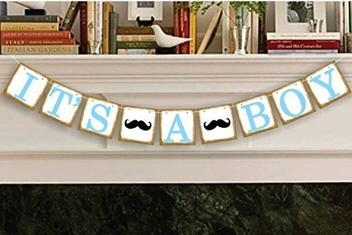 It's a Boy Banner Baby Shower Garland, Baby Shower Decoration, Photo Booth Props, New Contemporary Design from USA-Sales Seller