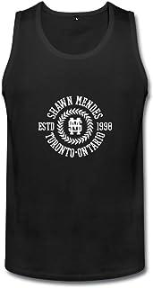 メンズ 面白い シンガー ショーン メンデス ロゴ ポスター タンクトップ タイツ Black