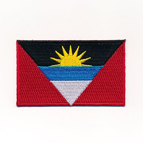 60 x 35 mm Antigua & Barbuda Inselstaat Flagge Patch Aufnäher Aufbügler 1045 B