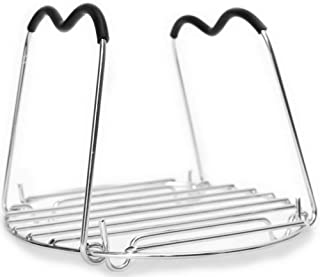 Trivet for Instant Pot with Heat Resistant Silicon Handles - IP Accessories - Pressure Cooker Steamer Rack - Fits 5 / 6 / ...