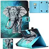 Universal Case for 9.5'-10.5' Tablet, Artyond PU Leather Cover Slim Fit Folio Cards Slots Case for All Fire HD 10, iPad 9.7 and More 9.6' 9.7' 10.1' 10.5' Android iOS Tablet (Gray Elephant)