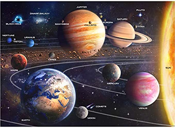 A2PLAY USA Solar System 1000 Piece Jigsaw Puzzle Set