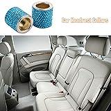 Docooler Car Headrest Collars 2 Pack Crystal Car Seat Headrest Decoration Charms