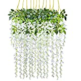 12 Pack 3.6 Feet/Piece Artificial Fake Wisteria Vine Ratta Hanging...