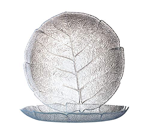 Luminarc ARC 10241 Aspen Teller flach, 24cm, Glas, transparent, 6 Stück