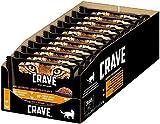 CRAVE Katzenfutter - getreidefreies, proteinreiches Nassfutter Pastete mit Huhn & Truthahn und Lamm & Rind, 44 Portionsbeutel (11 x 4 x 85g),...