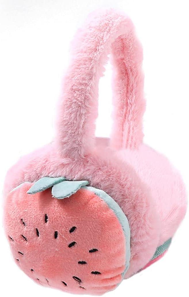 Lnrueg Winter Earmuff Cute Plush Comfy Breathable Ear Muff Ear Warmer Outdoor Ear Cover for Children Skiing School