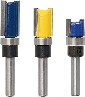 Bestgle 3Pcs Top Bearing Flush Trim Pattern Router Bit Set 1/4-Inch Shank Woodworking Milling Cutter Tool