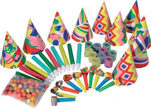 10er Party Set Geburtstag Hüte Tröten