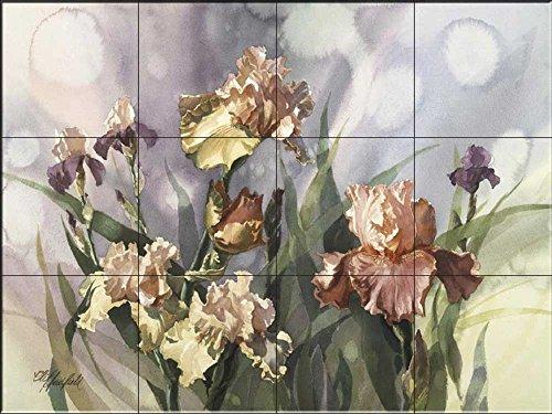 Fliesenwandbild - Iris V- von Clif Hadfield - Küche Aufkantung/Bad Dusche