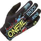 O'NEAL   Guante de Ciclismo Motocross   MX MTB DH FR Downhill Freeride   Materiales duraderos y Flexibles, Palma ventilada   Matrix Youth Glove Villain   Niños   Negro   Talla M
