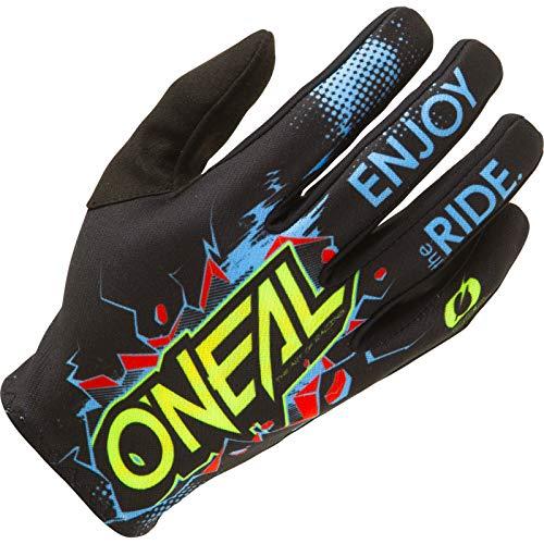 O'NEAL | Fahrrad- & Motocross-Handschuhe | Kinder | MX MTB DH FR Downhill Freeride | Langlebige, Flexible Materialien, belüftete Handoberseite | Matrix Youth Glove Villain | Schwarz | Größe L
